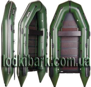 фото лодки БАРК 310 в профиль, фас и повернутой на 45 градусов