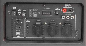 Генератор-инвертор Weekender DL8750iOE панель