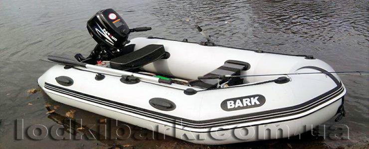 фото лодки БАРК BT-310S у берега