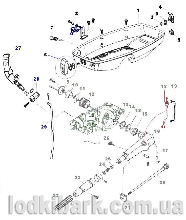 каталог запчастей нижняя крышка и управление Парсун Т 3.6