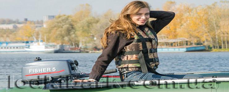 Лодка Барк под мотором Фишер 5